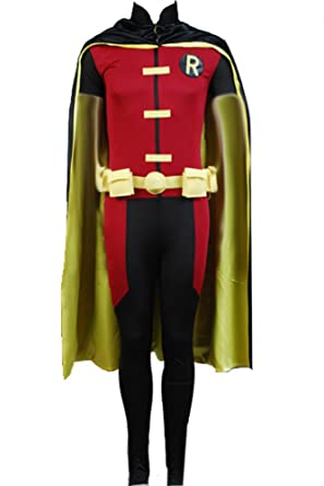 f0a5a7912558 Amazon.com  CosplaySky Young Justice Robin Cosplay Halloween Costume ...