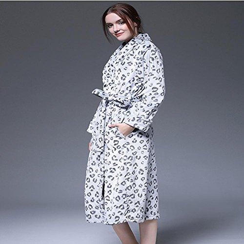 DMMSS Frau Super Soft Flanellpyjamas warmes Nachthemd dicke Badem?ntel