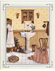 Paper Tole 3D Decoupage Craft Kit size 8x10 inches. Her Bathroom Kit # 20066