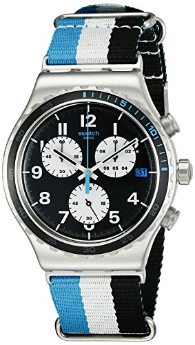 Swatch Unisex YVS409 Irony Analog Display Swiss Quartz Multi-Color Watch