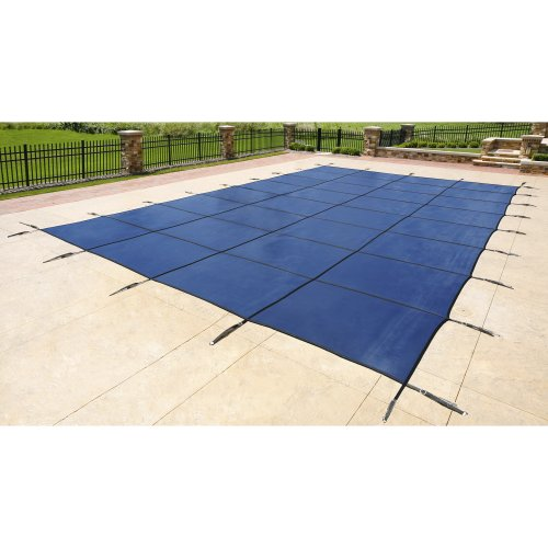 (Blue Wave 16-ft x 32-ft Rectangular In Ground Pool Safety Cover - Blue)