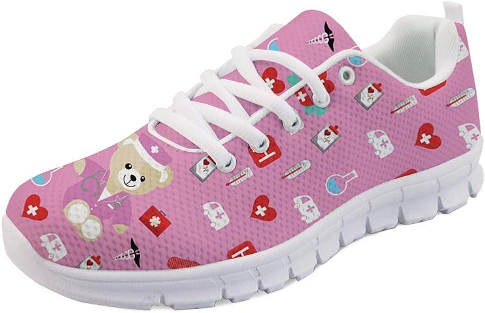 Coloranimal Damen Running Jogging Sneakers Gym Sports Gut Belüftete Schnürschuhe Schuhe Handtaschen