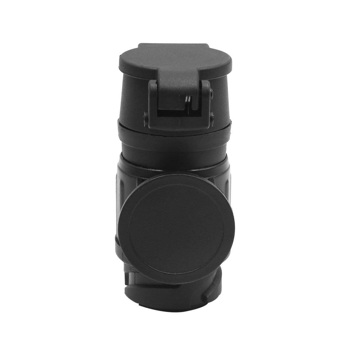 uxcell 7 Terminal Trailer Towbar Signal Light Connector Adapter Black for Auto Car