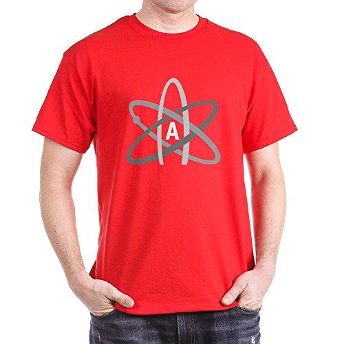 CafePress ATHEIST SYMBOL Dark T-Shirt - L Red
