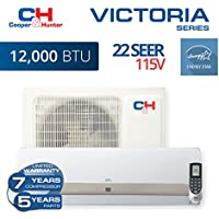 COOPER AND HUNTER Victoria 12,000 BTU, 115V Ductless Mini Split Air Conditioner 22 SEER Energy Star rated