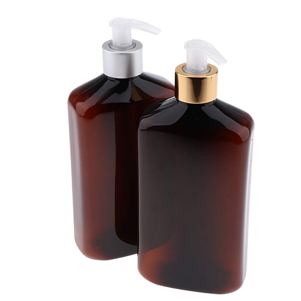 76ca5c1d0d9c Amazon.com : CUTICATE Brown Rectangle Travel Bottles w ...