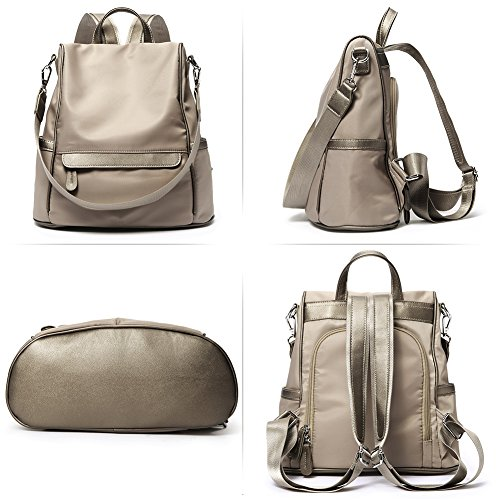 Women Backpack Purse Nylon Fashion Casual Shoulder Bag Lightweight Water Resistant School Backpack gray by Cluci (Image #5)