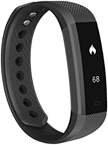 Shark Tech Fitness Tracker, Slim Activity Tracker with Heart Rate Monitor, Waterproof Step Counter, Calorie Counter, Pedometer for Kids, Women, Men and Gift