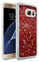 HR Wireless For Samsung S7 Edge Liquid Quicksand with Glitter - Rose Pink