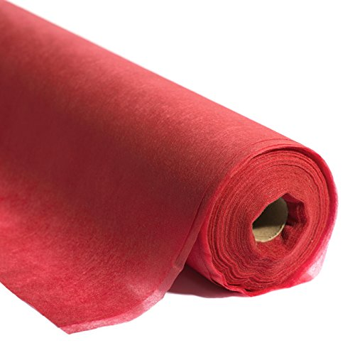 TCDesignerProducts Red Flame Retardant Gossamer Decorating Fabric, 59 Inches x 25 Yard Roll price tips cheap