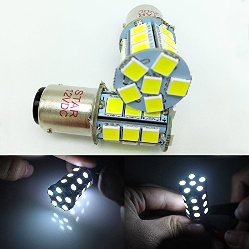 Ba15d 24 Smd 1157 1076 1142 68 90 1004 1130 1158 1176 1178 Car Led Bulbs Replacement For Rv Camper Turn Tail Singnal Lamp 12v Dc White Pack Of 2