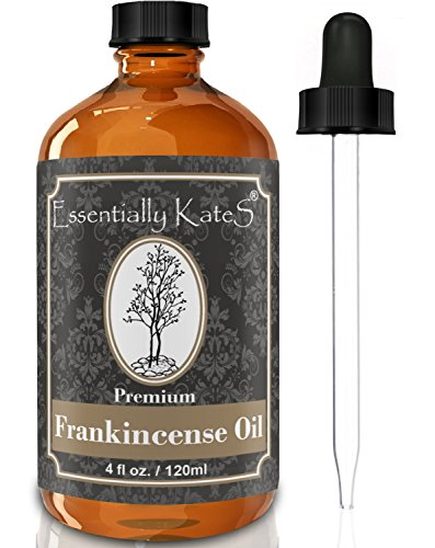 Frankincense Essential Oil 4 oz. with Detailed User's Guide E-book and Glass Dropper by Essentially KateS. by Essentially KateS