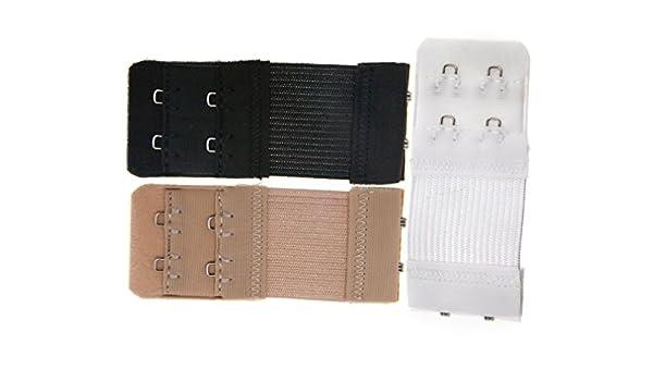 Micro Trader - Extensor de contorno para sujetador, 3 unidades, 2 ganchos, Multicoclor, talla única: Amazon.es: Deportes y aire libre