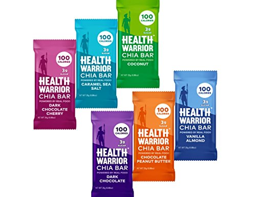 Health Warrior Chia Bars Variety, 24-Count