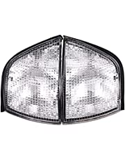 Kaxofang Clear Lens Car Front Corner Lamps Turn Signal Light Sidelights for E36 3-Series 1992-1998