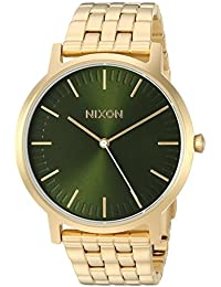 Nixon Men's 'Porter' Quartz Stainless Steel Casual Watch, Color:Gold-Toned (Model: A10572596-00)