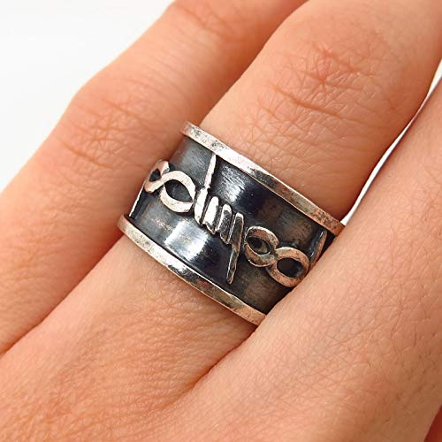 925 Sterling Silver Vintage Barbed Wire Design Band Ring Size 5 1/4 Jewelry by Wholesale Charms