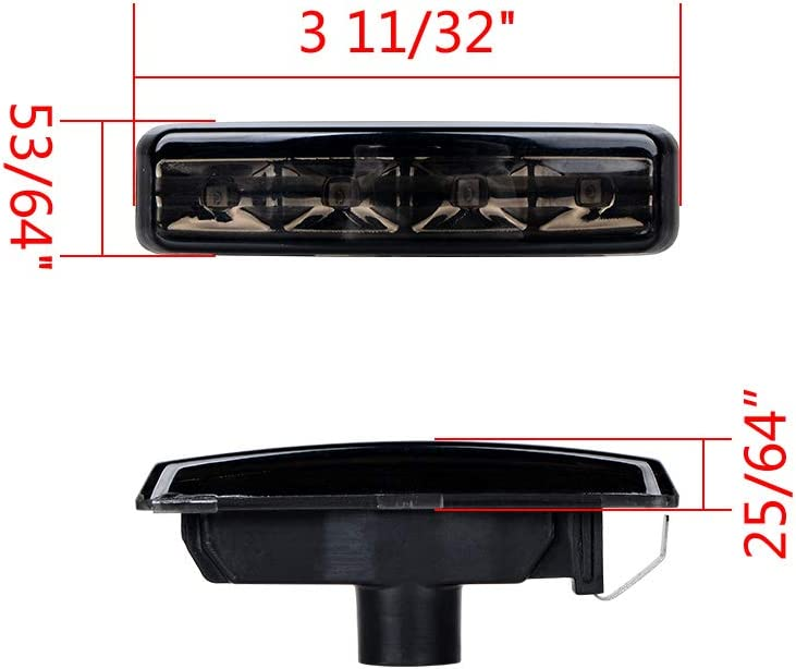 TopPick Sidemarker Lights FOR BMW E39 5-Series 1997-2003 Clear//Chrome FIT OEM REPLACEMENT 63142496299-C2