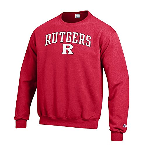 Pullover Sweatshirt Scarlet (Elite Fan Shop Rutgers Scarlet Knights Crewneck Sweatshirt Varsity Scarlet - XL)