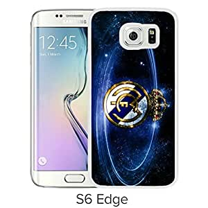 Unique and Grace Samsung Galaxy S6 Edge Case Design with Real Madrid Football White Case