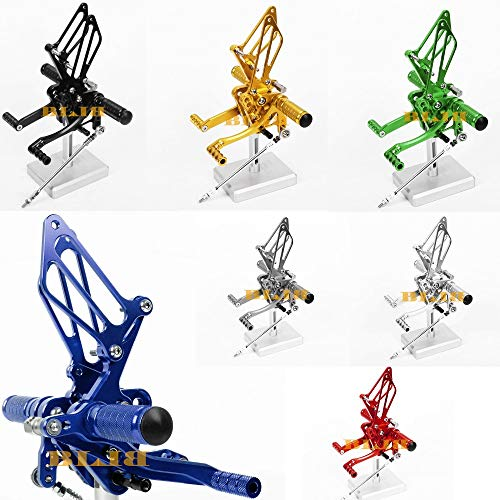 Frames & Fittings for Suzuki GSXR 1000 GSXR1000 2005-2006 CNC Foot Pegs Rearsets Rear Sets Brake Shift Motorcycle 8 Color Hot Sale High-Quality - (Color: Titanium)