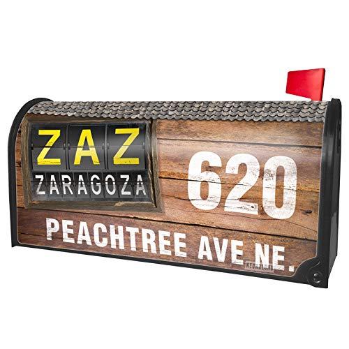 NEONBLOND Custom Mailbox Cover ZAZ Airport Code for Zaragoza]()