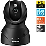PANNOVO 1080P Wireless Wifi Security Camera-Home IP Video Monitoring Surveillance Camera Systemwith Night Vision Pan/Tilt,Cloud Storage Service