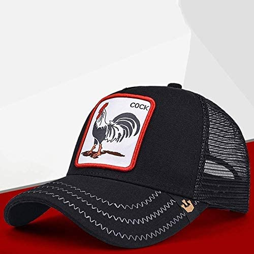 Color : Red Vinteen Hat Male Tide Personality Hip-hop Hat Breathable Baseball Cap Summer Sun Hat Mesh Hat Female Casual Wild Cap Classic Universal Adjustable