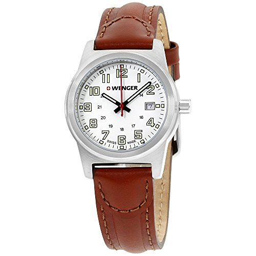 Wenger-White-Dial-Leather-Strap-Ladies-Watch-010411139