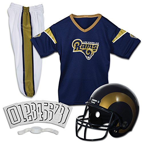 Franklin Sports NFL Los Angeles Rams Youth Licensed Deluxe Uniform Set, Large
