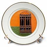 3dRose Danita Delimont - Architecture - Mexico, Guanajuato, Ornate window in a colorful back alley - 8 inch Porcelain Plate (cp_278308_1)