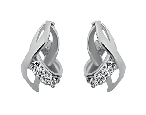 Clara sterling Silver Swarovski Studded The Zarita Earring For Women Earrings at amazon