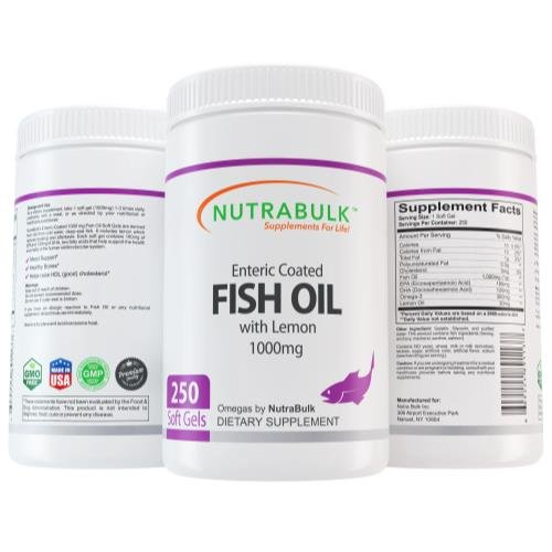 Nutrabulk Enteric Coated Omega-3 Fish Oil 1000mg Soft Gel...