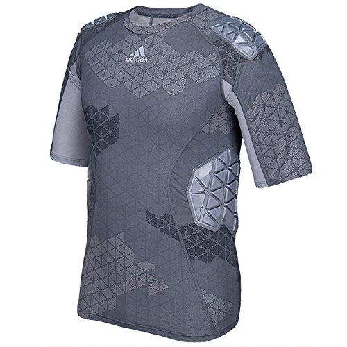 Adidas Techfit Ironskin Mens 5 Pad Short Sleeve Football Shirt M Onix-Light Onix (Adidas Football Shirt)
