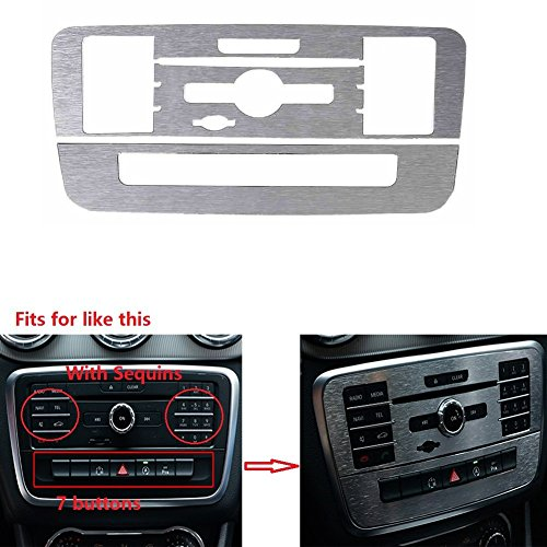 Angelguoguo Car CD Air Conditioning Control Panel Decoration Frame Sticker For Mercedes Benz A/B/GLA/CLA Class (With Sequins) ()