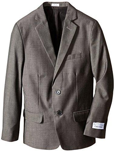 Calvin Klein Big Boys' Husky Mini Birdseye Jacket, Black, 10 Birdseye Jacket