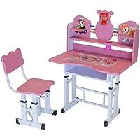 Mesa e Cadeira Infantil com Regulagem de Altura Charme Rosa - Facthus