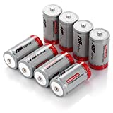 FlePow 8 Pack C Cell 1.2V Ni-MH Rechargeable Batteries Pre-charged Low Self-discharge (C Size, 4000mAh) Size: C Color: 8-Pack, Model: , Electronics & Accessories Store