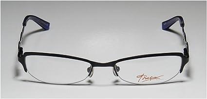 Thalia Edita Womens//Ladies Designer Half-rim Flexible Hinges Glamorous Adult Size Authentic Eyeglasses//Eyewear