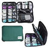Electronics Travel Cable Organizer Accessory Storage Bag for Tech Gear, Gadgets, Cords, Chargers, and Tablets