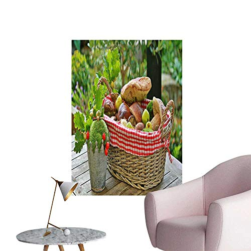 Modest Bread - SeptSonne Wall Stickers for Living Room Bread and Fruit on The Table Vinyl Wall Stickers Print,28