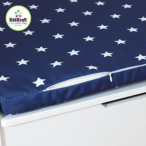 KidKraft Austin Toy Box Cushion, White/Navy Stars (Discontinued by manufacturer)