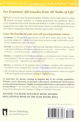 The Little Gold Grammar Book: 40 Powerful Rules for Clear and