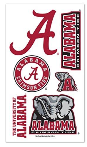 Alabama Crimson Tide Temporary Tattoos - WinCraft NCAA University Alabama Crimson Tide Temporary Tattoos Package Set