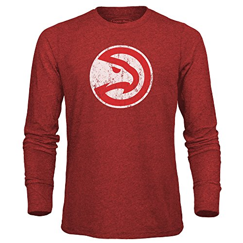 fan products of NBA Atlanta Hawks Men's Premium Triblend Long Sleeve Tee, X-Large, Red