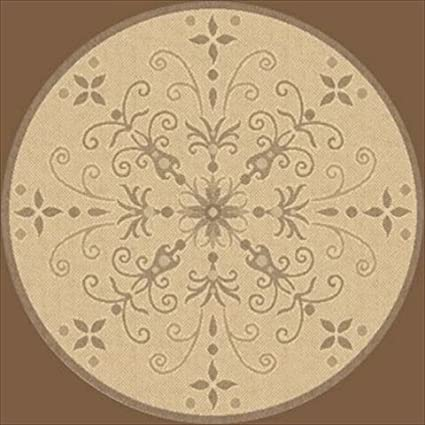 Amazon Com Dynamic Rugs Piazza Vente Round Indoor Outdoor Area Rug