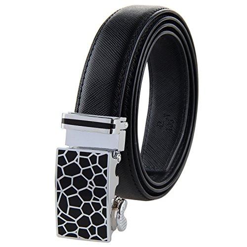 Sliding Ratchet - Bpstar Women's Ratchet Leather Belt with Sliding Buckle for Dress/Jeans