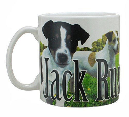 (Jack Russell Terrier Dog -Full Color Relief 18 Oz Ceramic Mug. 6 Inches Long By 4.25 Inches Tall By 4 Inches in)