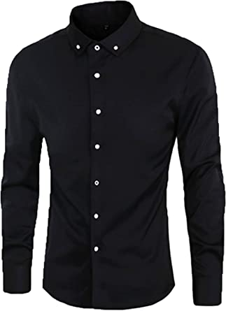 Men/'s Formal Casual Suits Slim Fit Business Dress Shirts Long Sleeve Button-Down