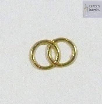 Eheringe gold glänzend  Wachsmotiv Eheringe gold glänzend 15x25 mm - 9621 - Wachsdekor für ...